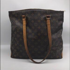 Authentic Louis Vuitton Cabas Mezzo Shoulder Bag